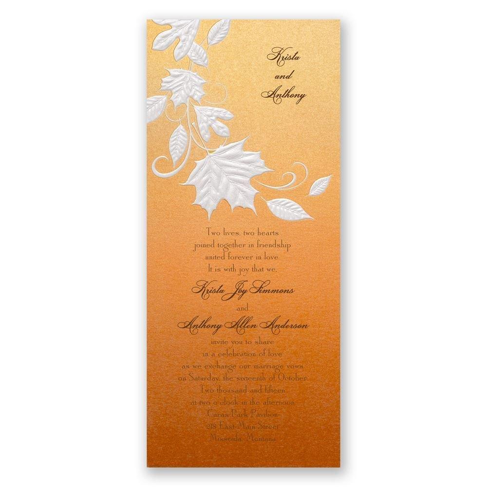Fall Color Wedding Invitations: Autumn Radiance Invitation