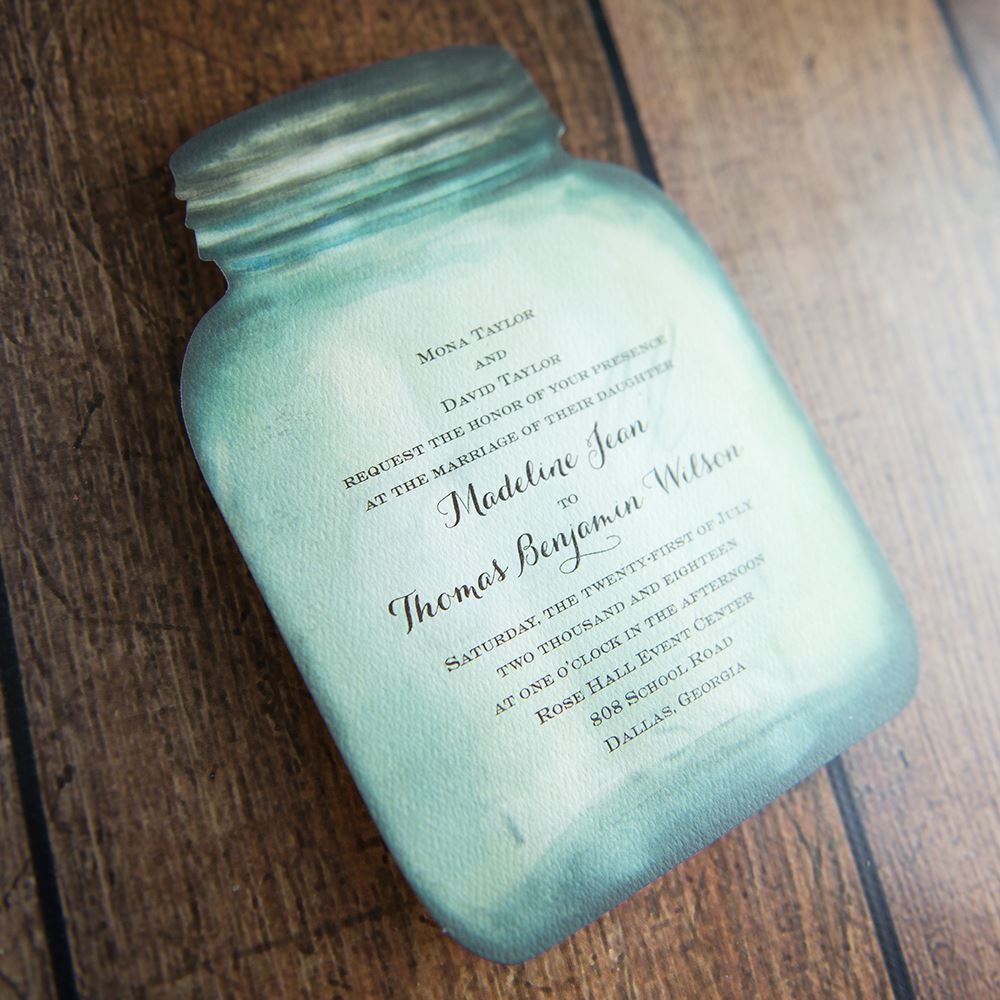 Country Canning Jar Invitation   Invitations By Dawn