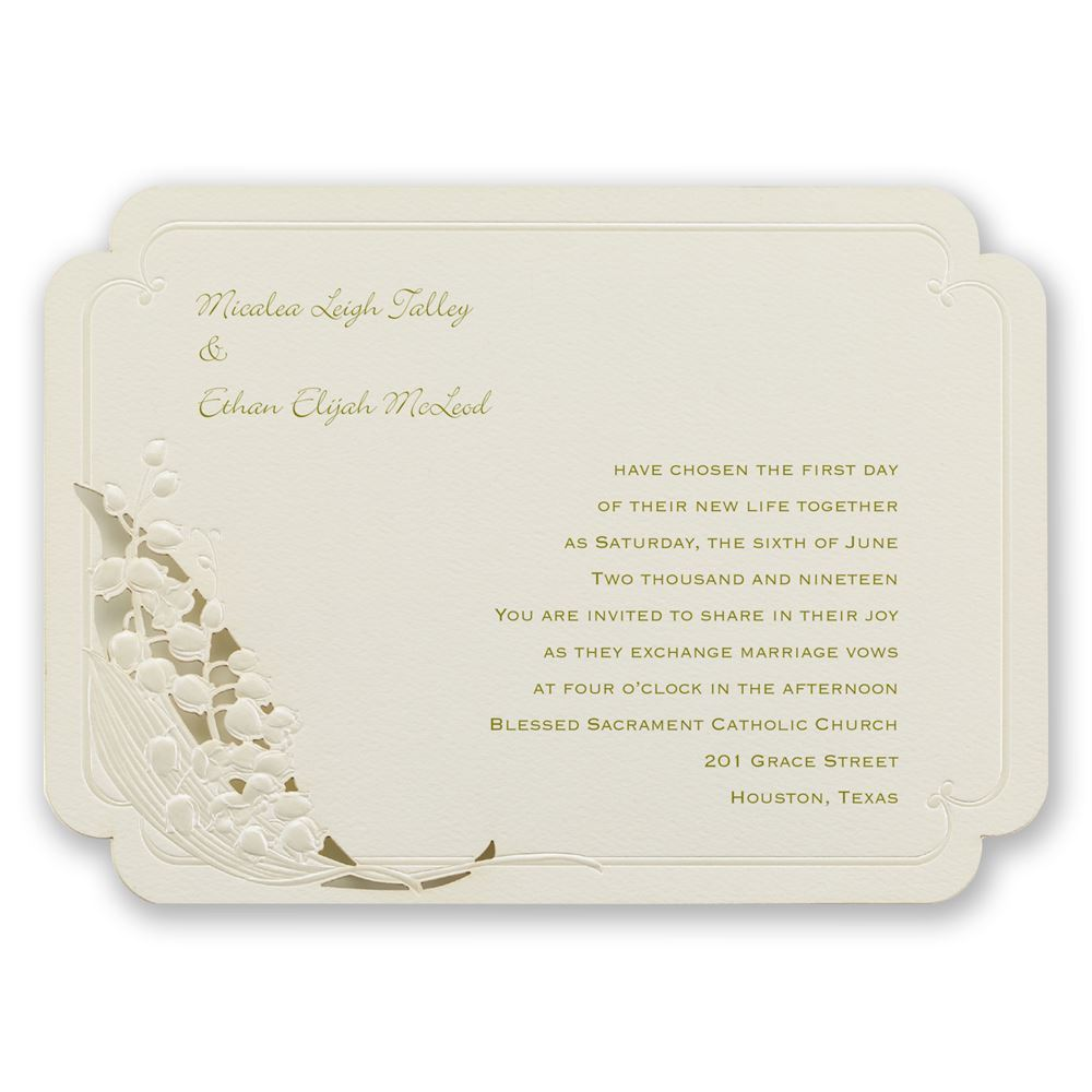 The best wedding invitations for you: Rose garden laser cut ...