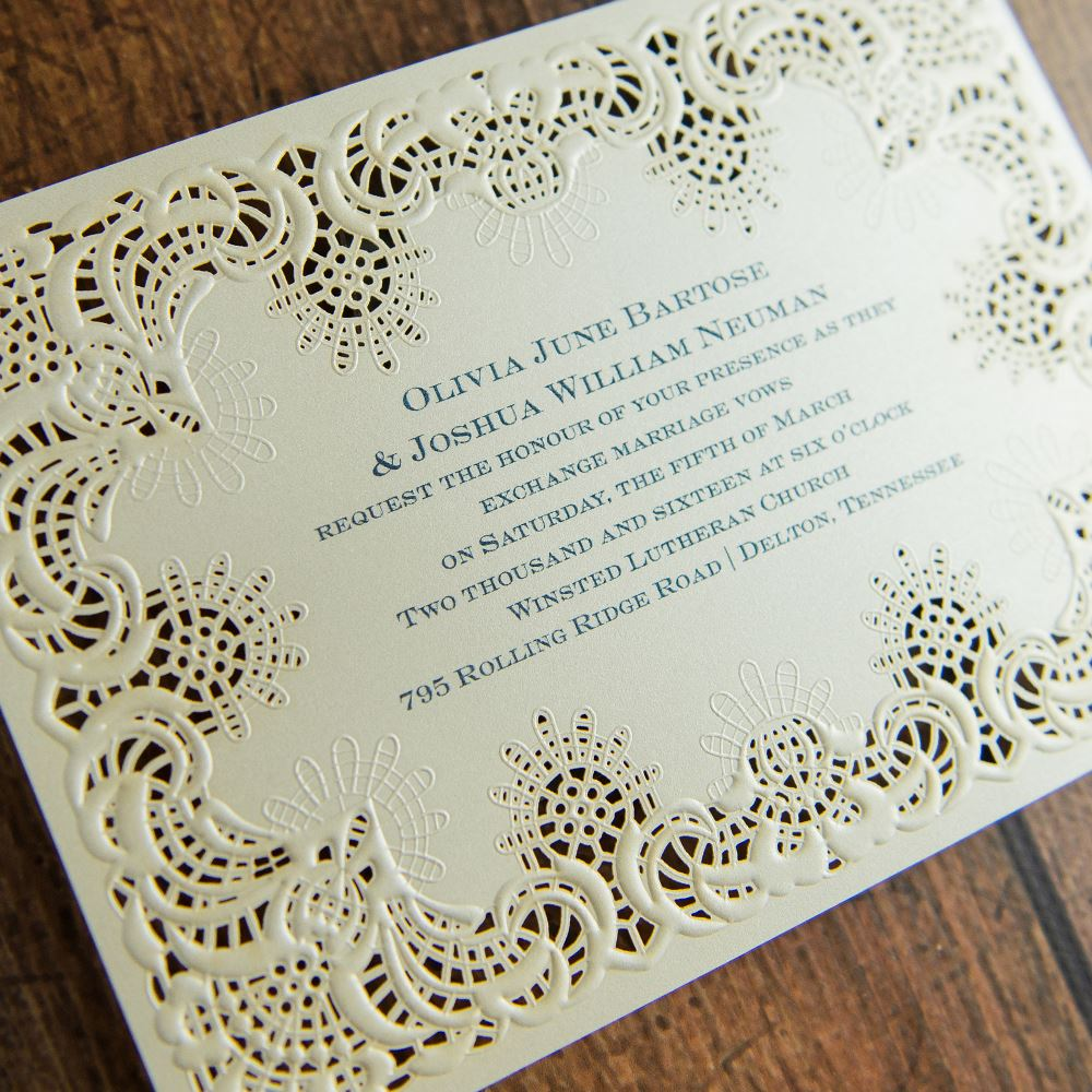 simply radiant laser cut invitation