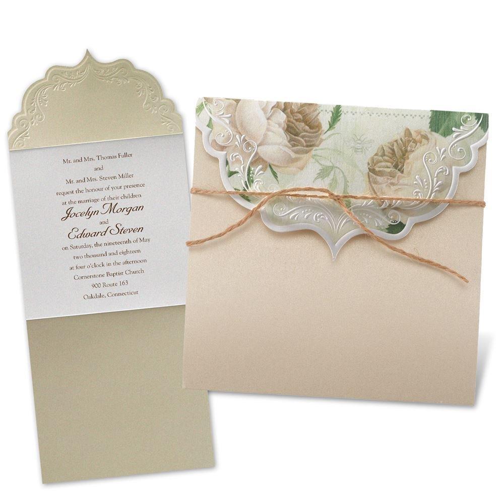 wedding invitations photo wedding invitations Wedding Invitations Garden Crest Invitation