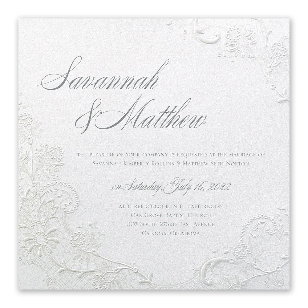 Wedding Invitation Postcard: Exquisite Invitation