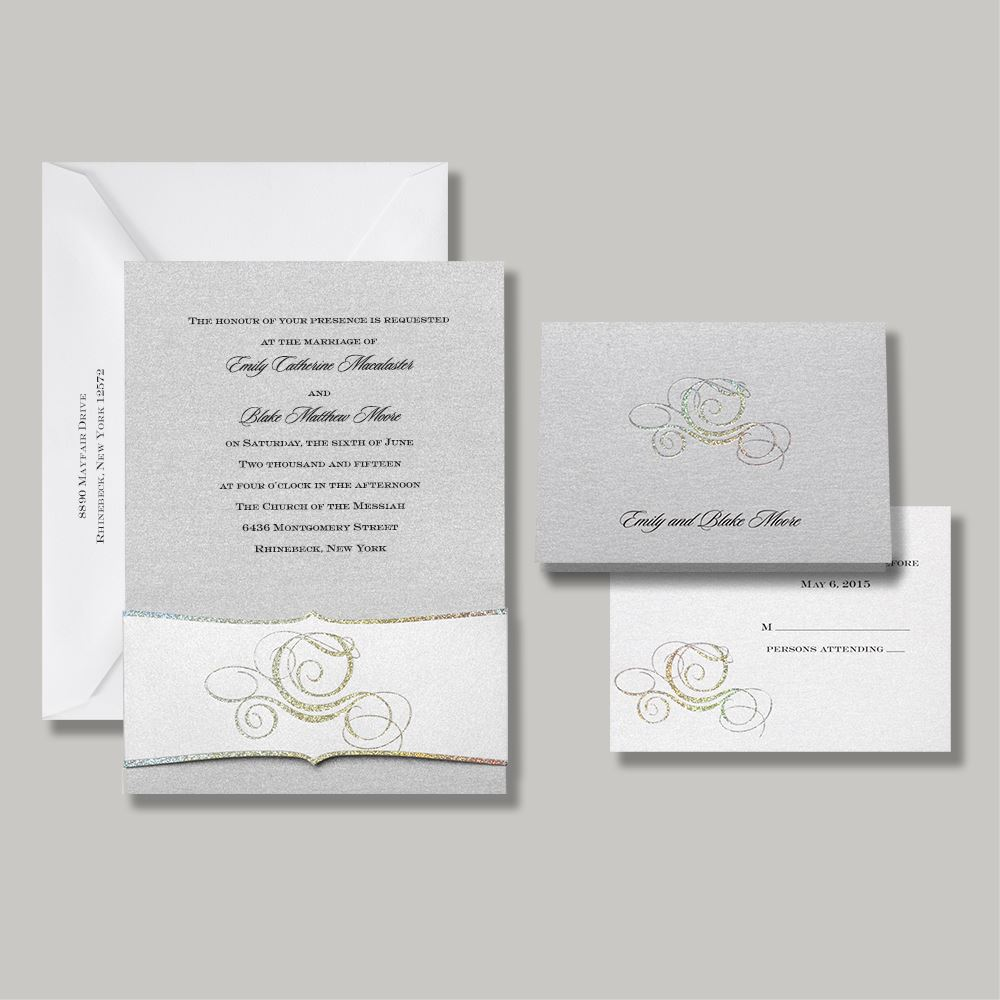 Disney Wedding Invitation: Disney Fairy Tale Carriage Invitation