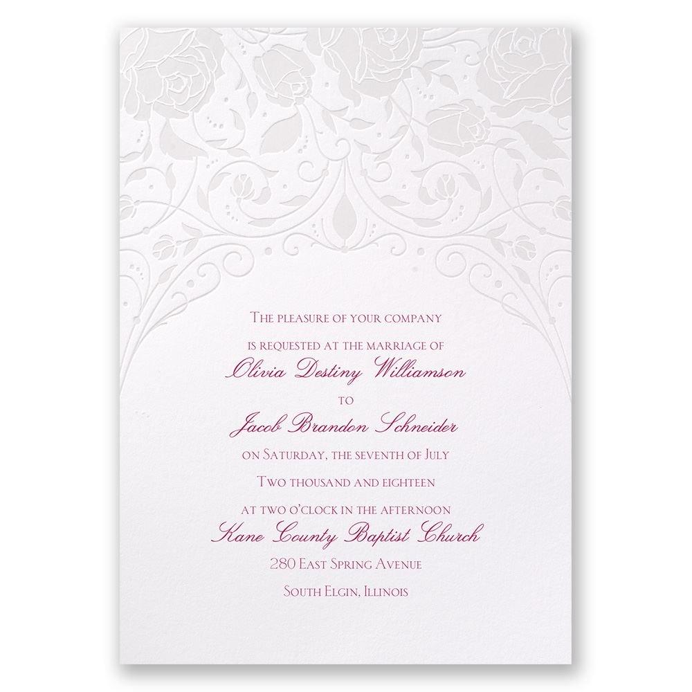 Disney Dreamy Roses Invitation Aurora