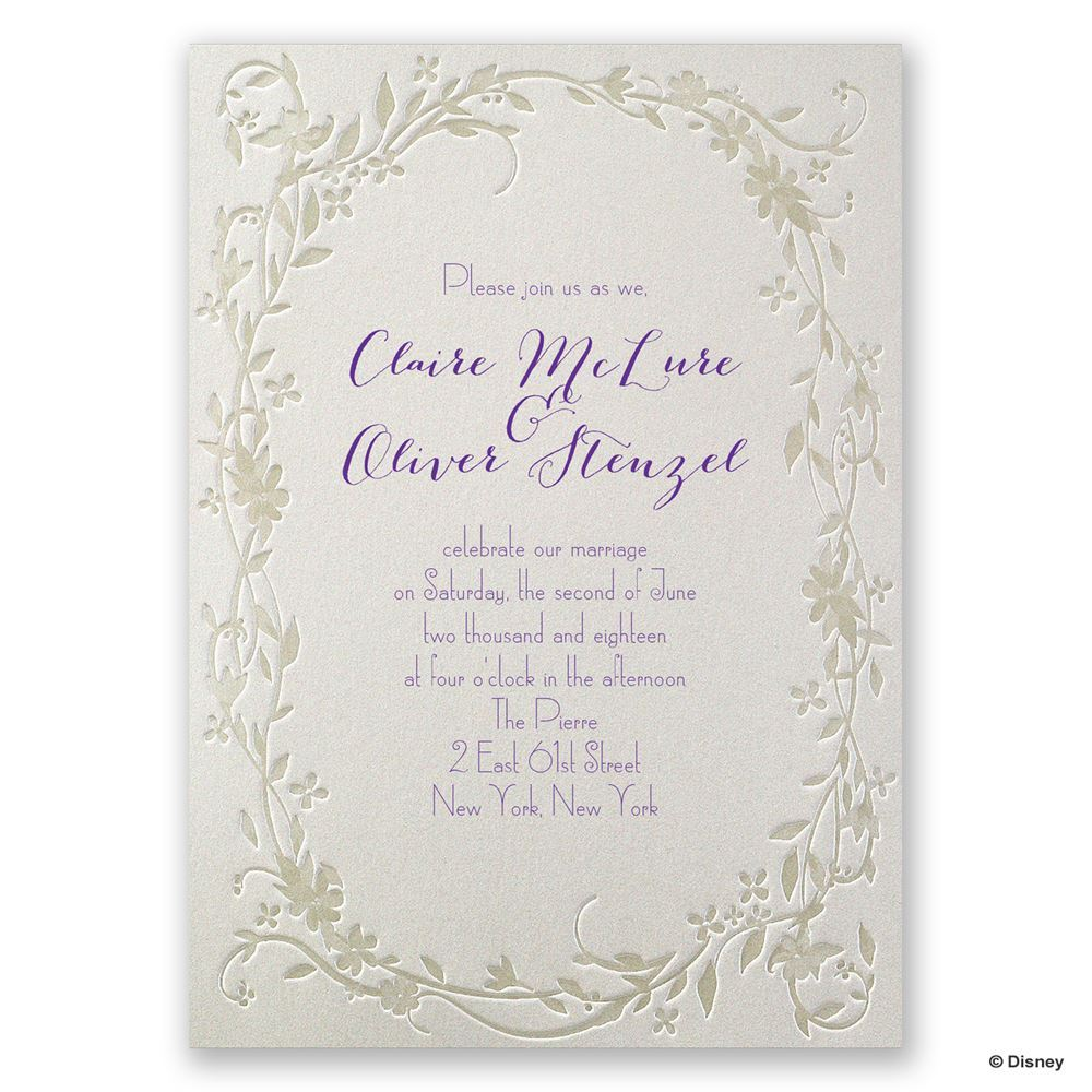 Disney Flowing Vines Invitation Rapunzel