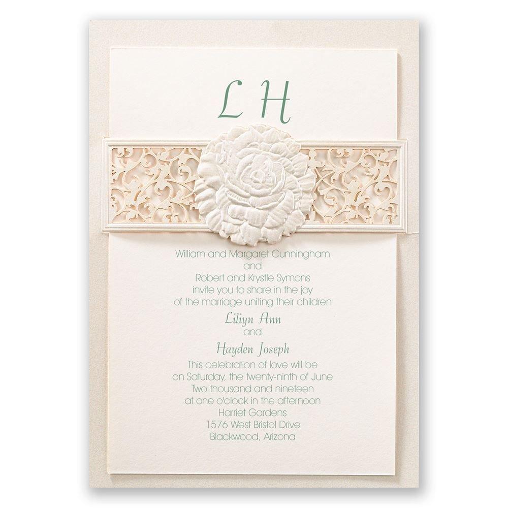 Rose reverie laser cut invitation invitations by dawn rose reverie laser cut invitation sciox Gallery
