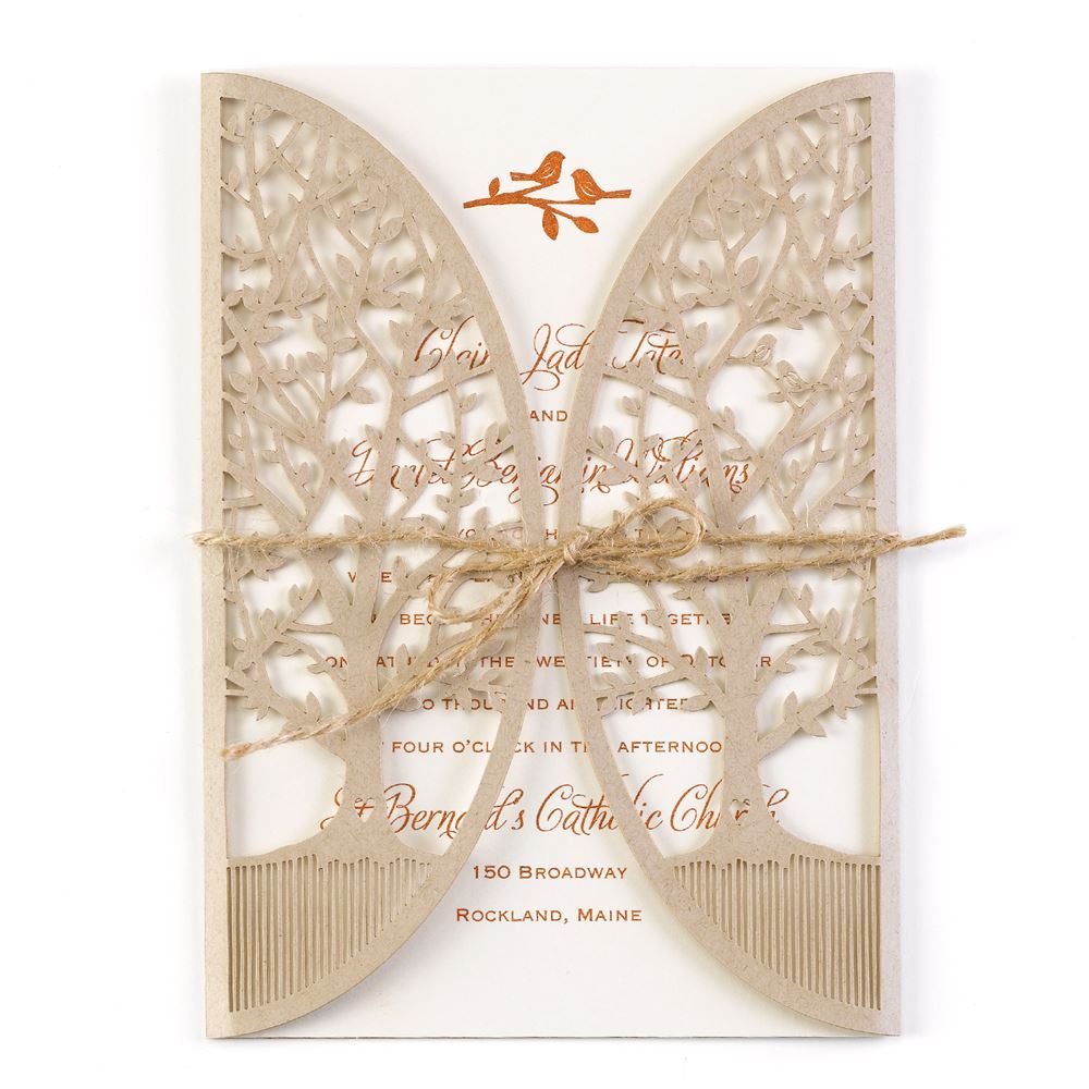 In The Grove   Laser Cut Invitation