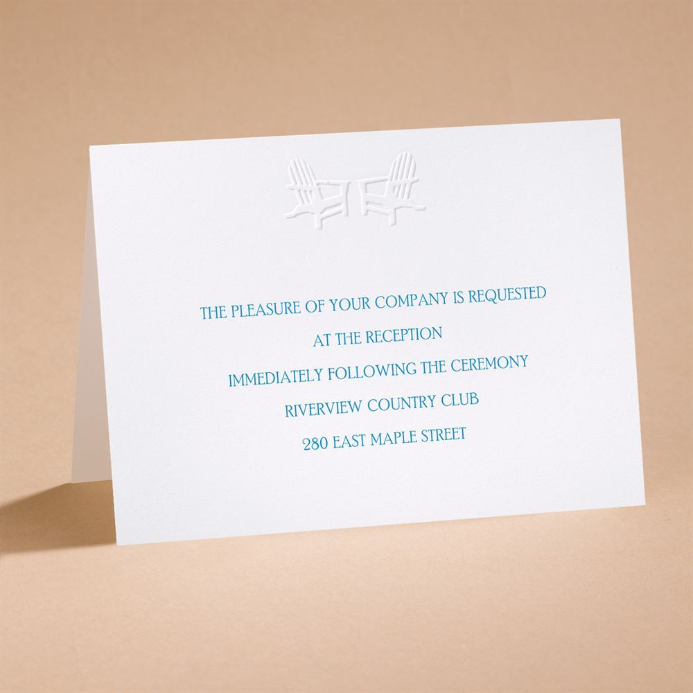 Reserved Seating Reception Card Invitations By Dawn