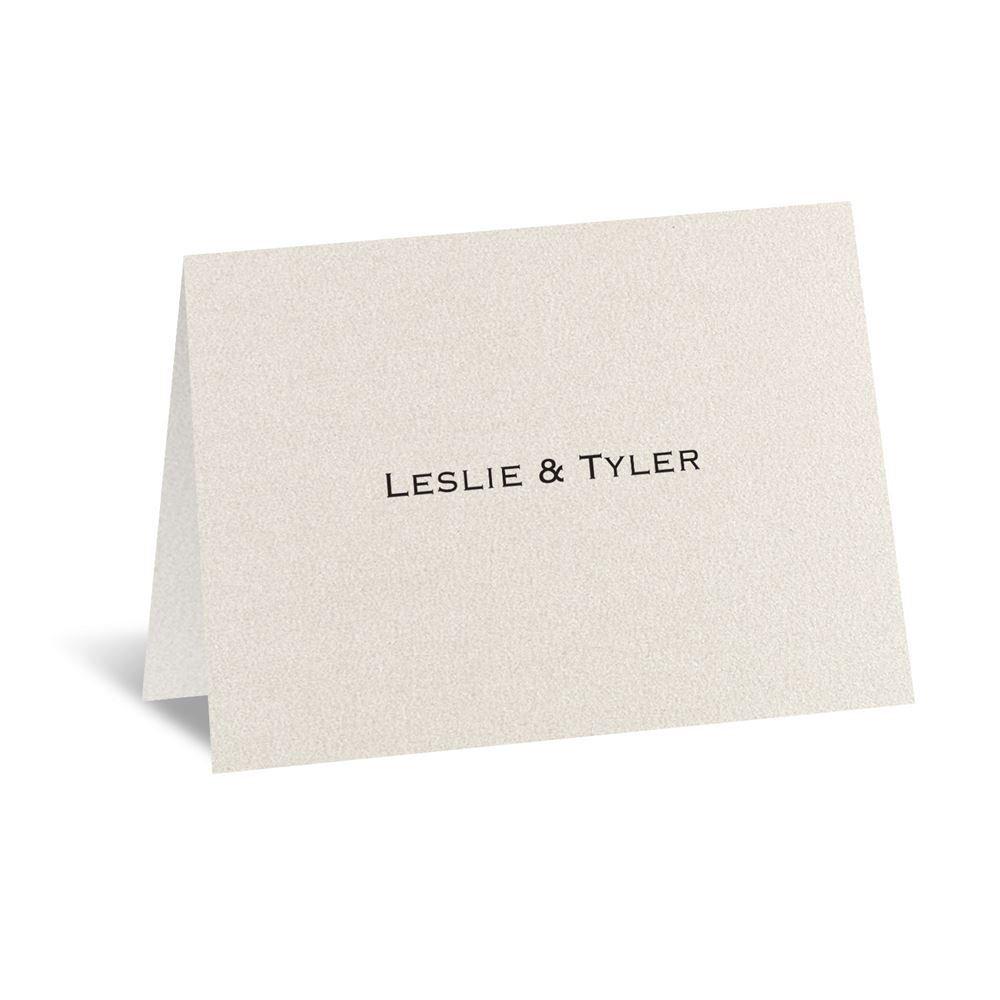 Ecru Shimmer Note Card And Envelope
