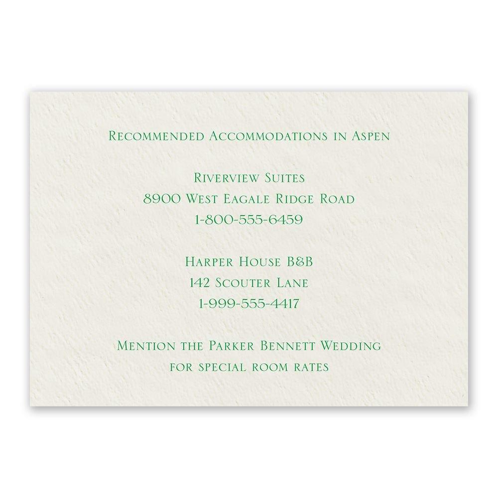 Ecru Accommodations Card Horizontal
