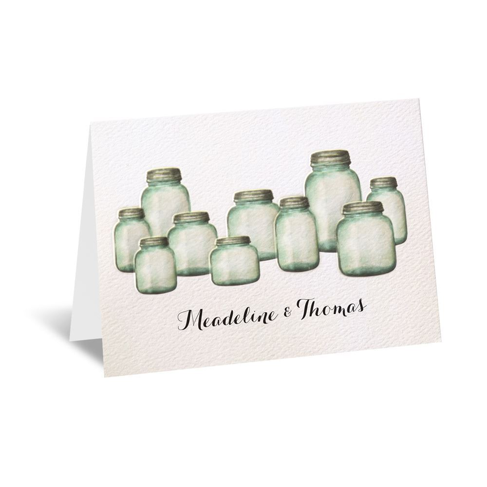 Country Canning Jar Thank You Card Invitations By Dawn