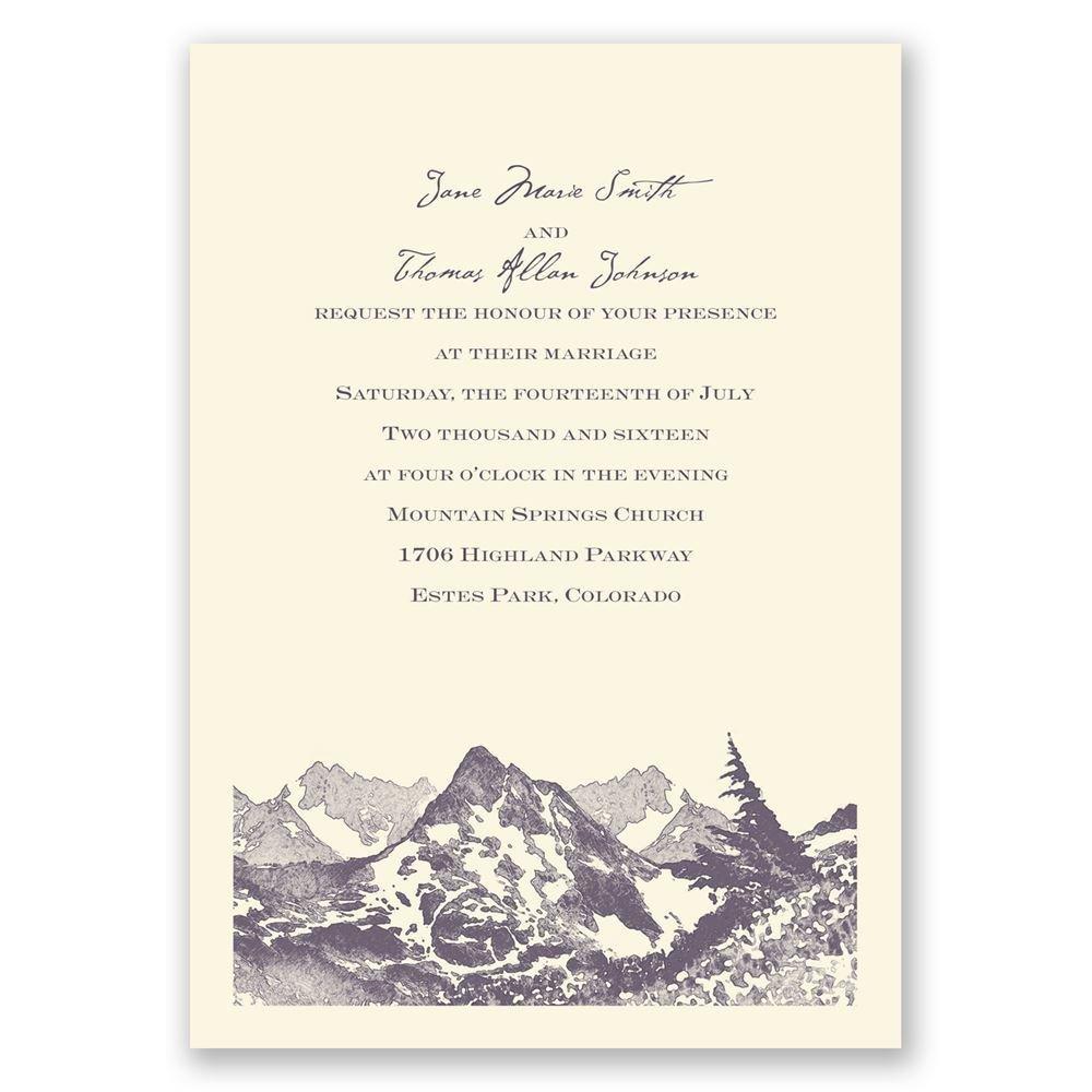 Watercolor Mountain Invitation