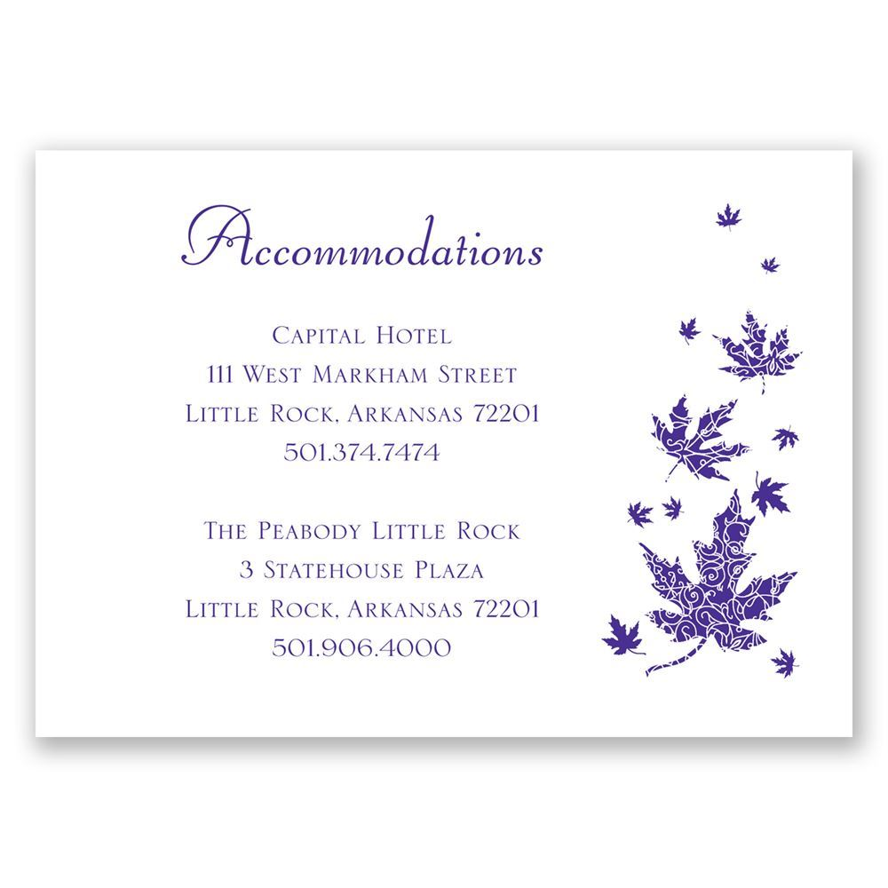 Graceful Leaves Accommodations Card