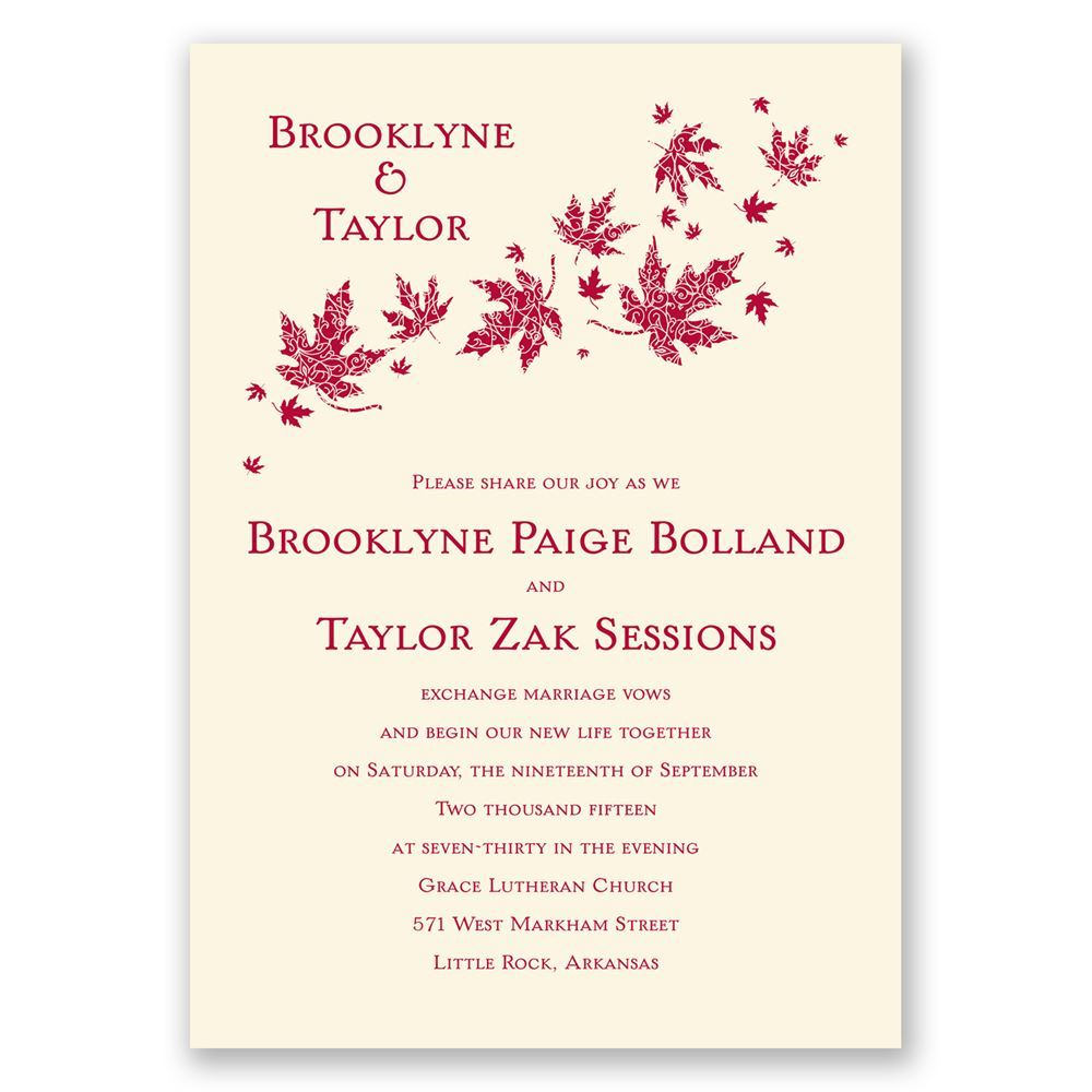 Graceful Leaves Invitation | Invitations by Dawn