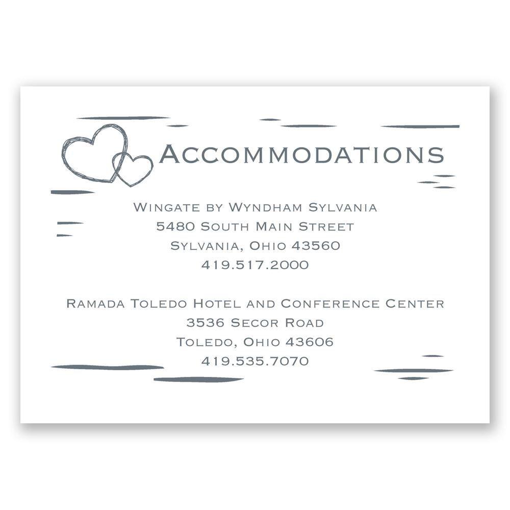 Birch Bark Heart Accommodations Card Invitations By Dawn
