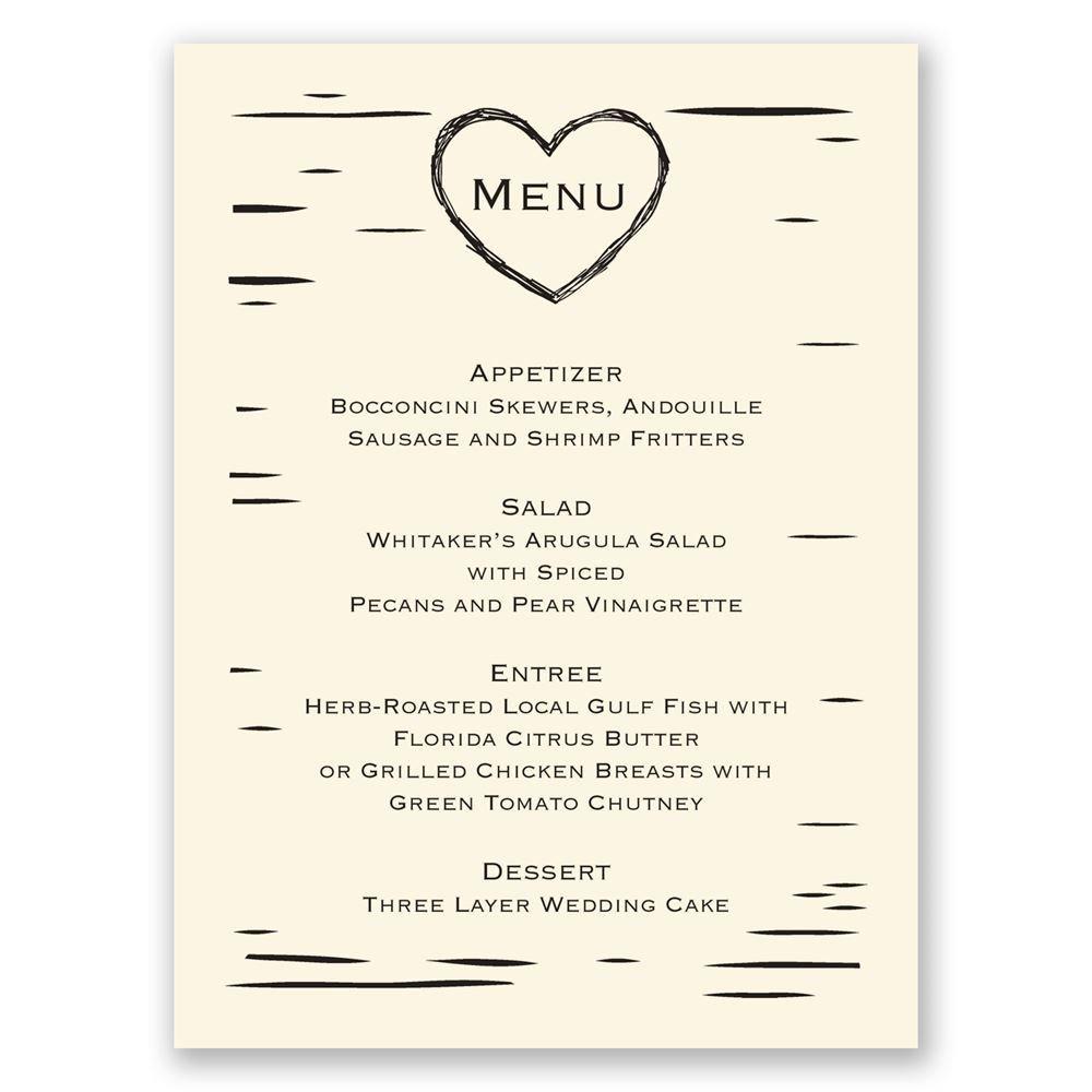 Wedding Menu Cards | Invitations By Dawn