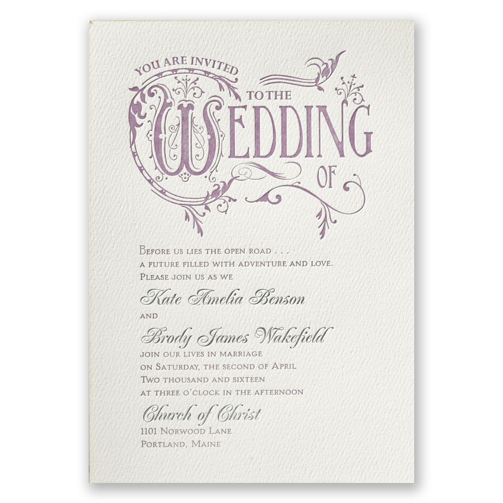 Wedding Invitation Book Style: Storybook Style Featherpress Invitation