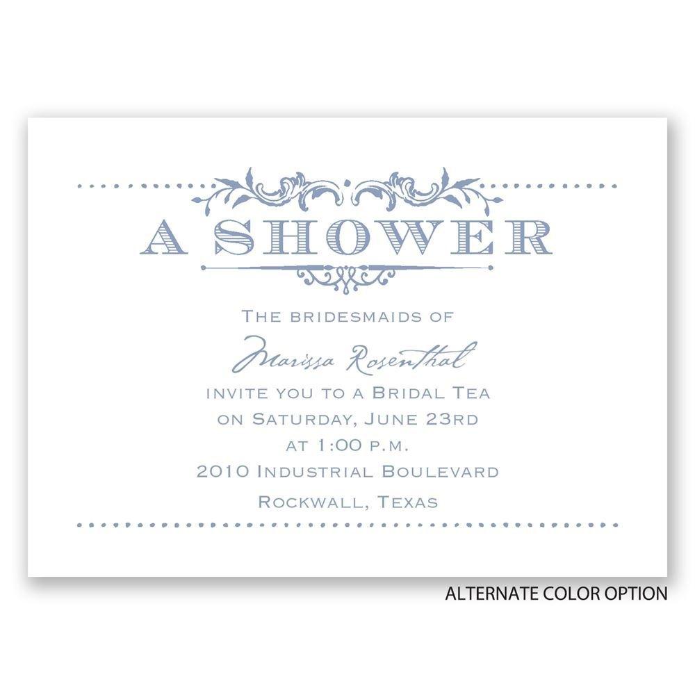 Vintage celebration mini wedding shower invitation for Classic bridal shower invitations