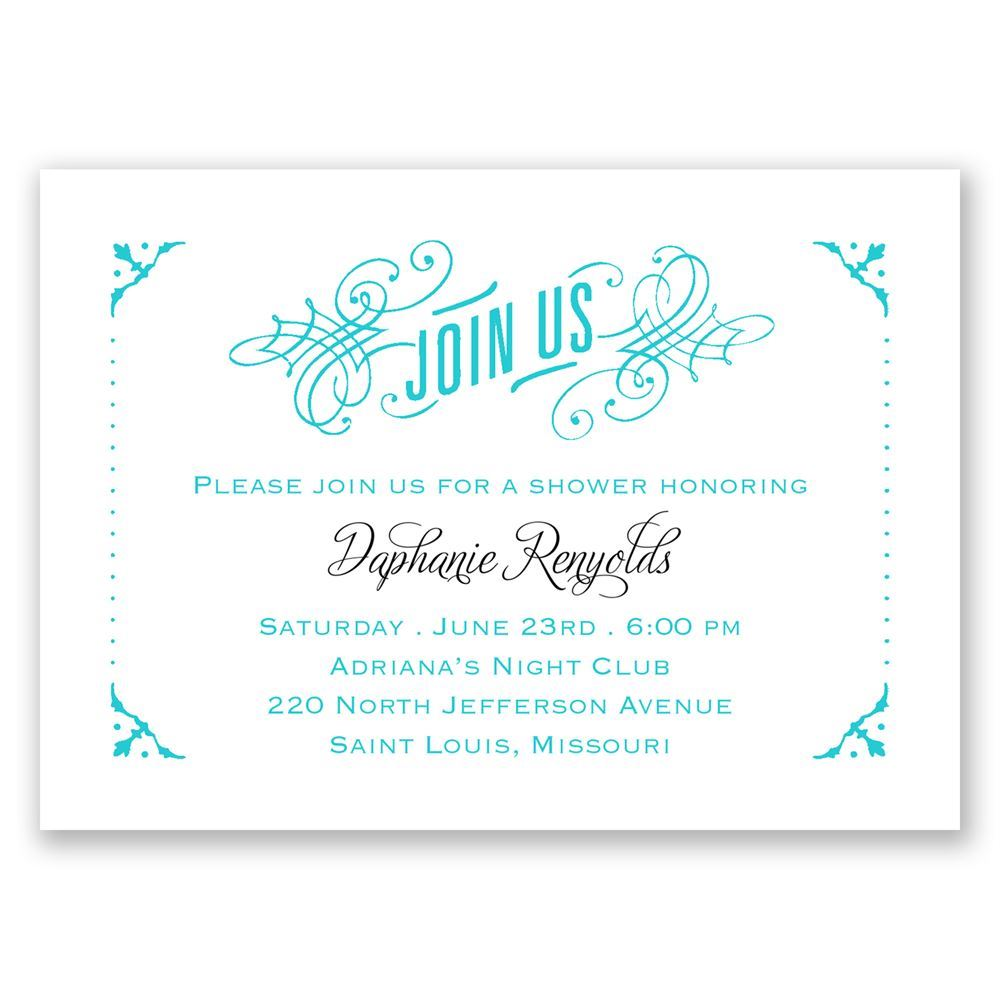 True Art Mini Wedding Shower Invitation