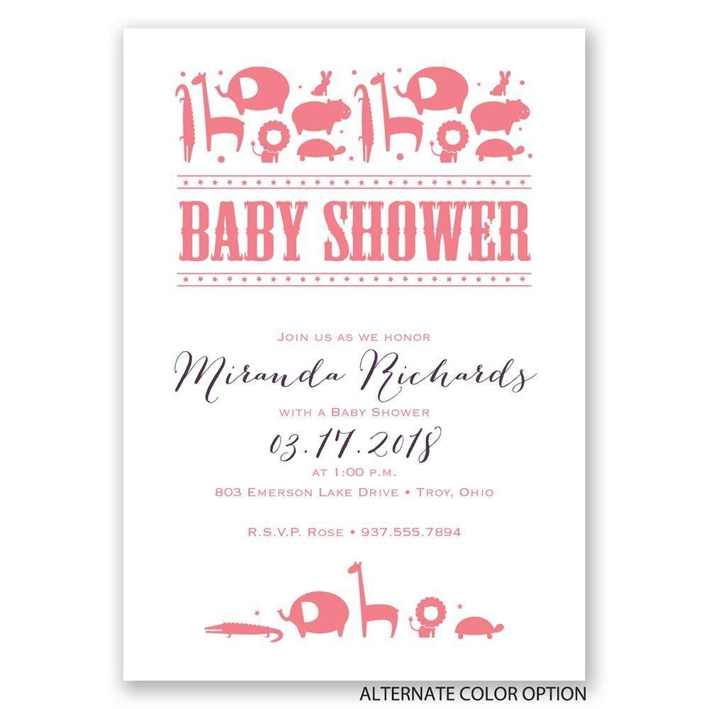 contemporary jungle baby shower invitation invitations by dawn