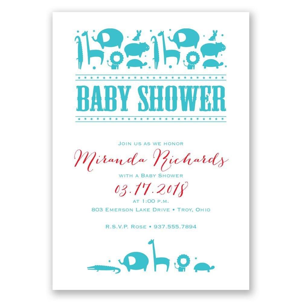 Contemporary Jungle Baby Shower Invitation | Invitations ...