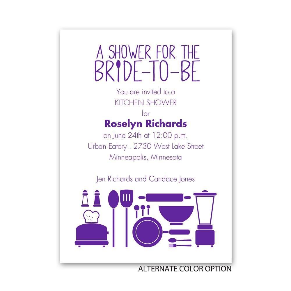 Chic Kitchen Petite Bridal Shower Invitation Invitations By Dawn
