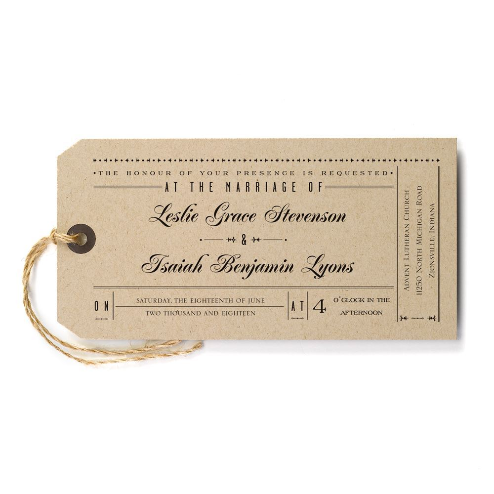 just the ticket invitation invitations by dawn