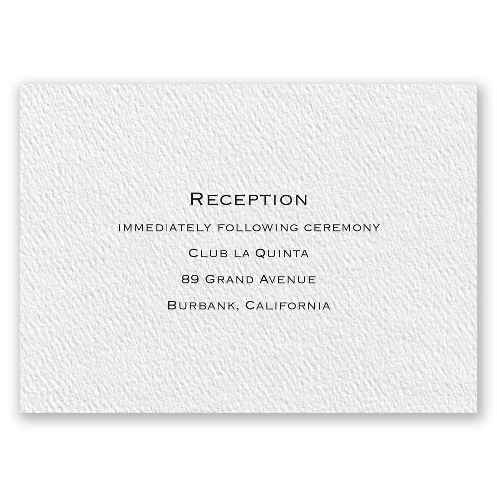 Textured White Reception Card | Invitations By Dawn