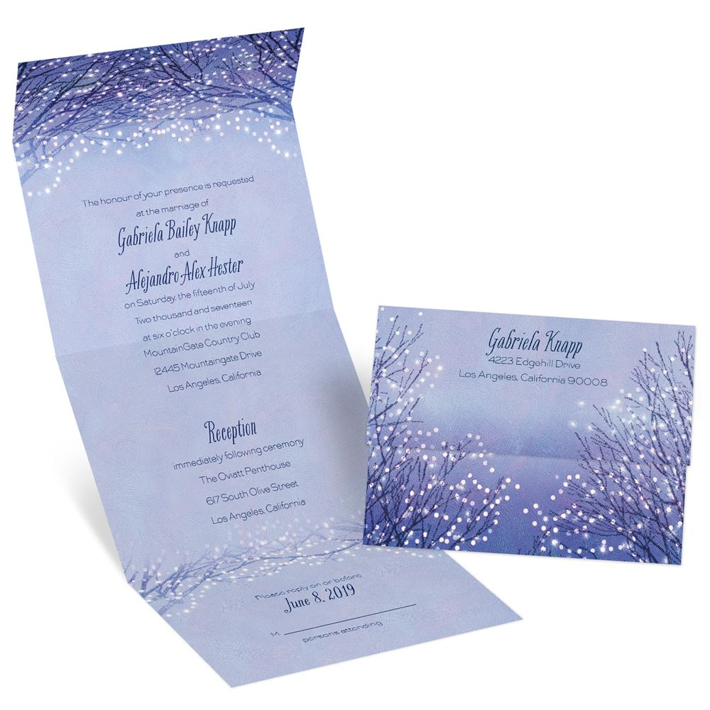 Seal And Send Wedding Invitations.Evening Stroll Seal And Send Invitation