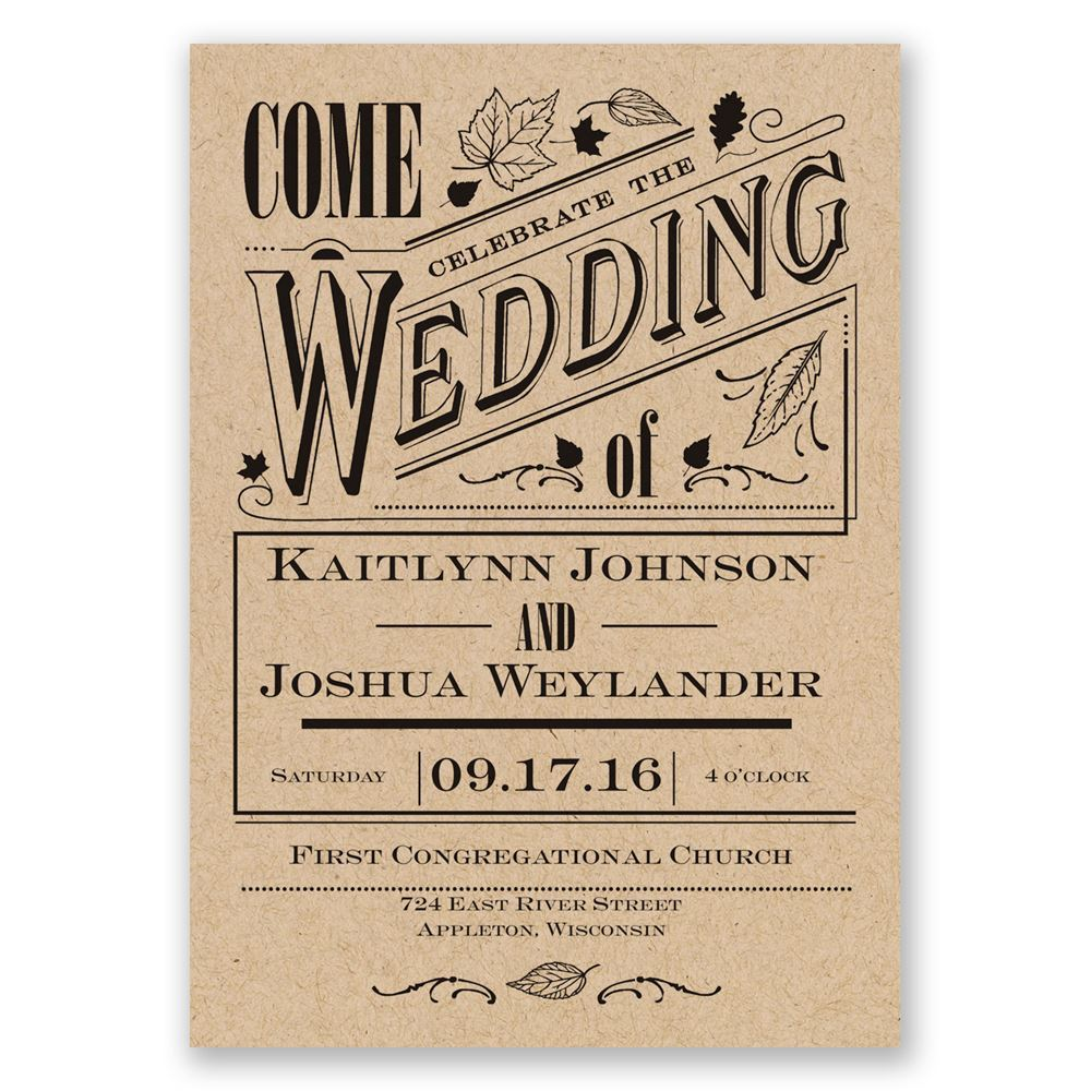 Outdoor Wedding Invitations: Big Celebration Invitation