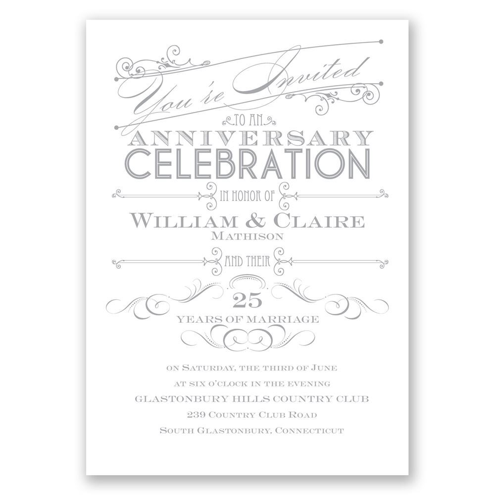 Lets celebrate anniversary invitation invitations by dawn lets celebrate anniversary invitation stopboris Image collections