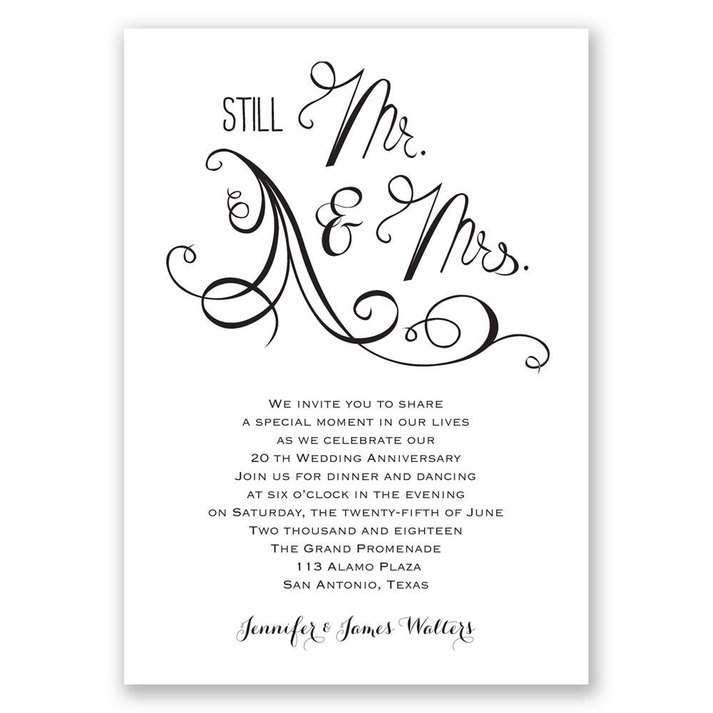 Still mr and mrs anniversary invitation invitations by dawn still mr and mrs anniversary invitation stopboris