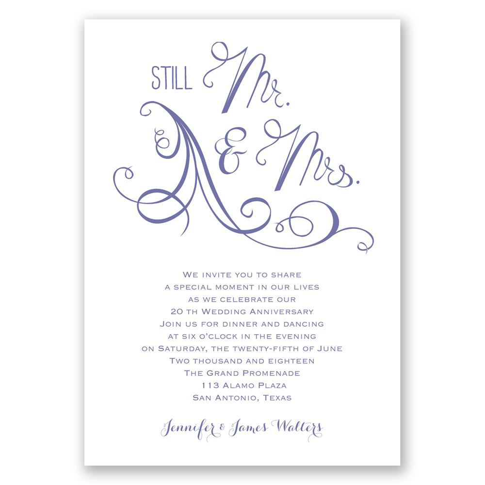 Still mr and mrs anniversary invitation invitations by dawn still mr and mrs anniversary invitation stopboris Image collections
