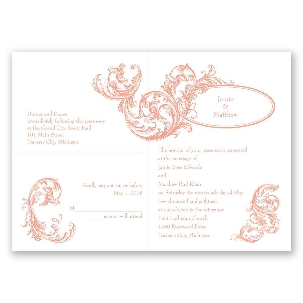 posh flourish 3 for 1 invitation invitations by dawn
