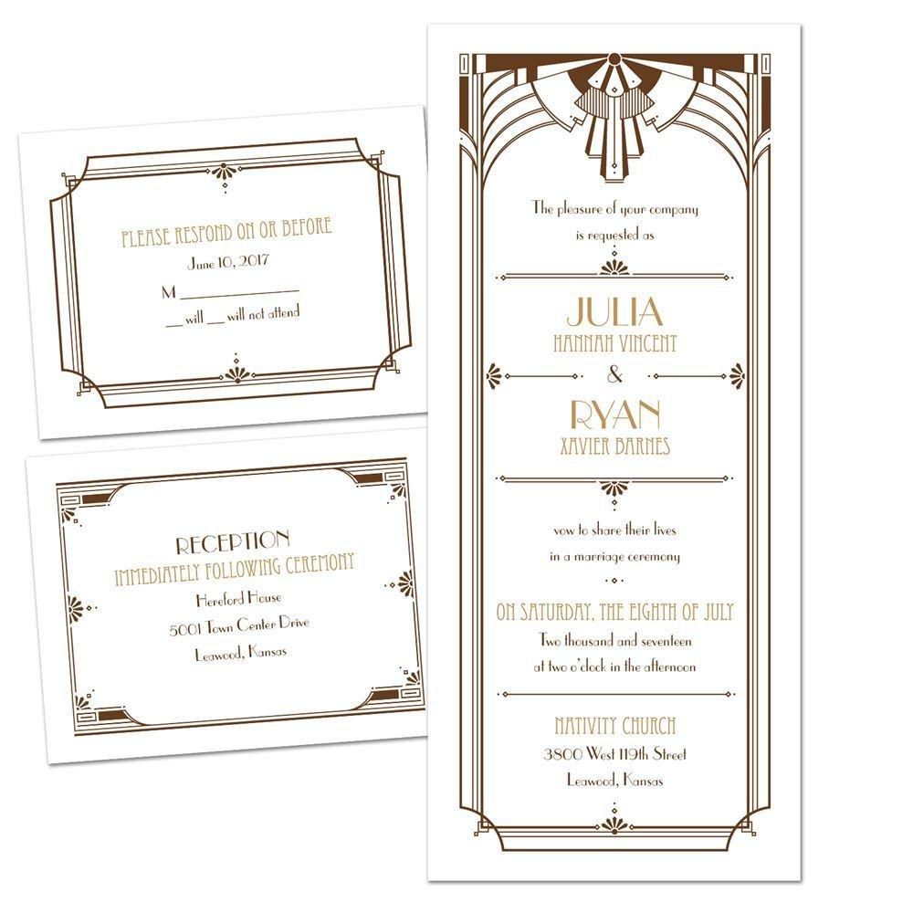 30 Inspirational Art Nouveau Wedding Invitation Template Graphics