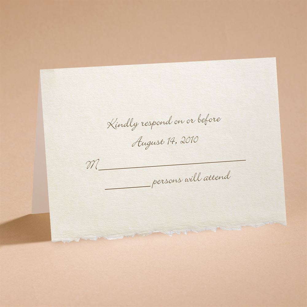 ecru deckle edge respond card and envelope invitations by dawn