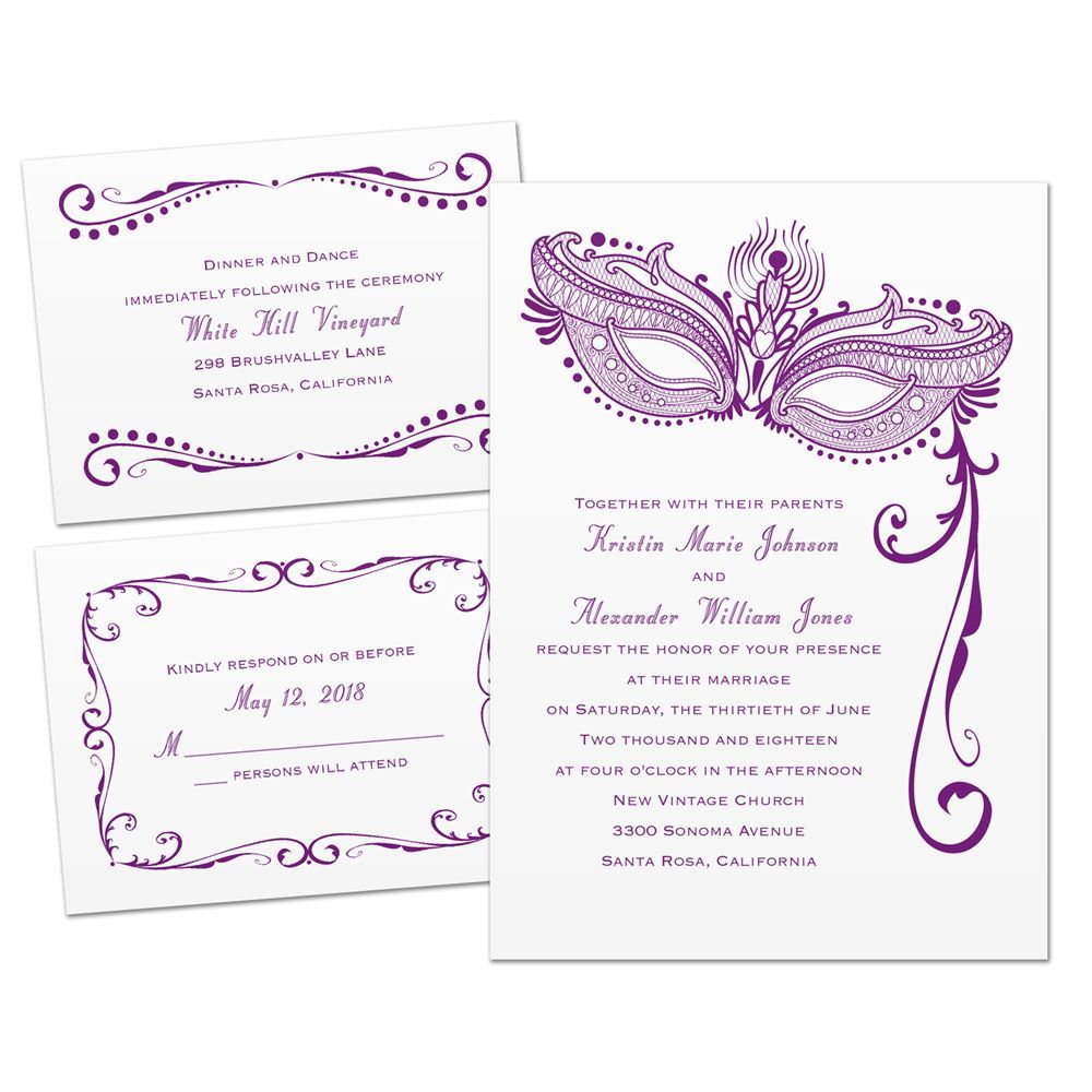 Masked Mystique 3 for 1 Invitation | Invitations by Dawn