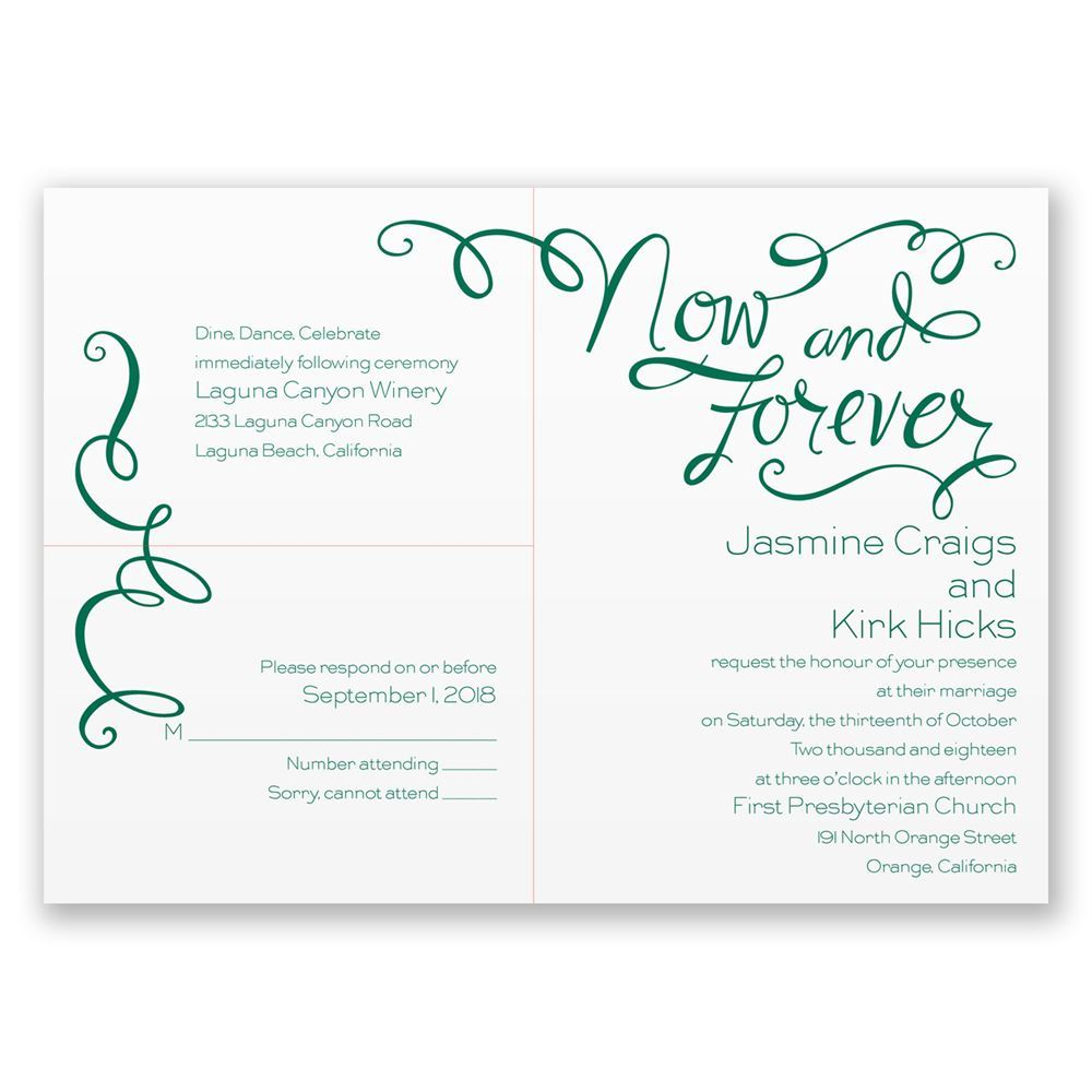 Now And Forever 3 For 1 Invitation