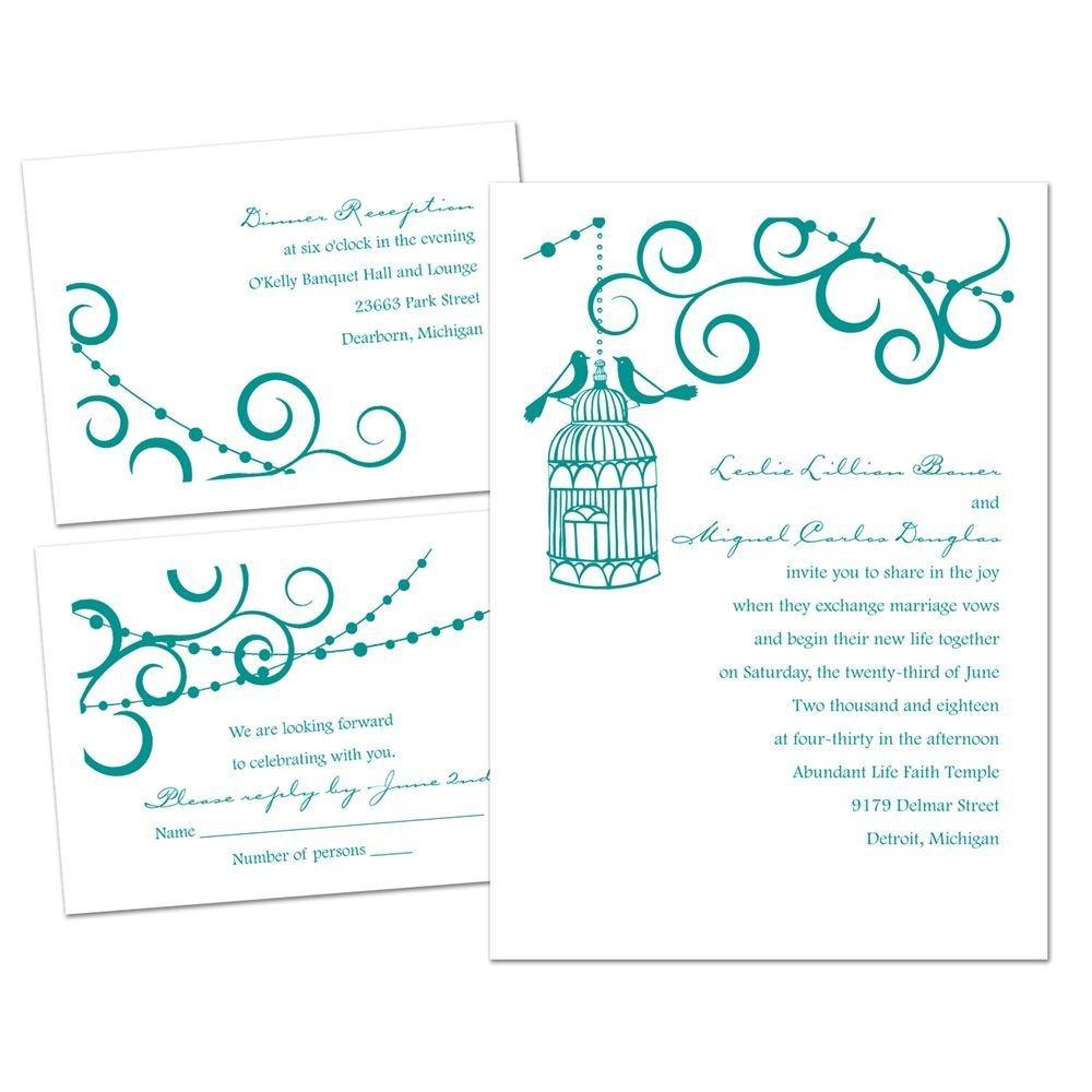 Wedding Invitations Birdcage: Bird Cage 3 For 1 Invitation