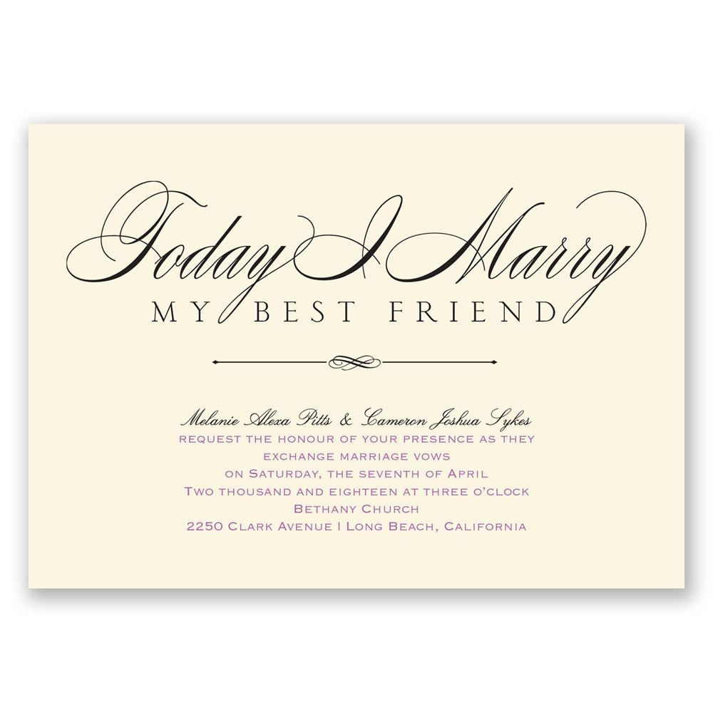Love Amp Friendship Invitation
