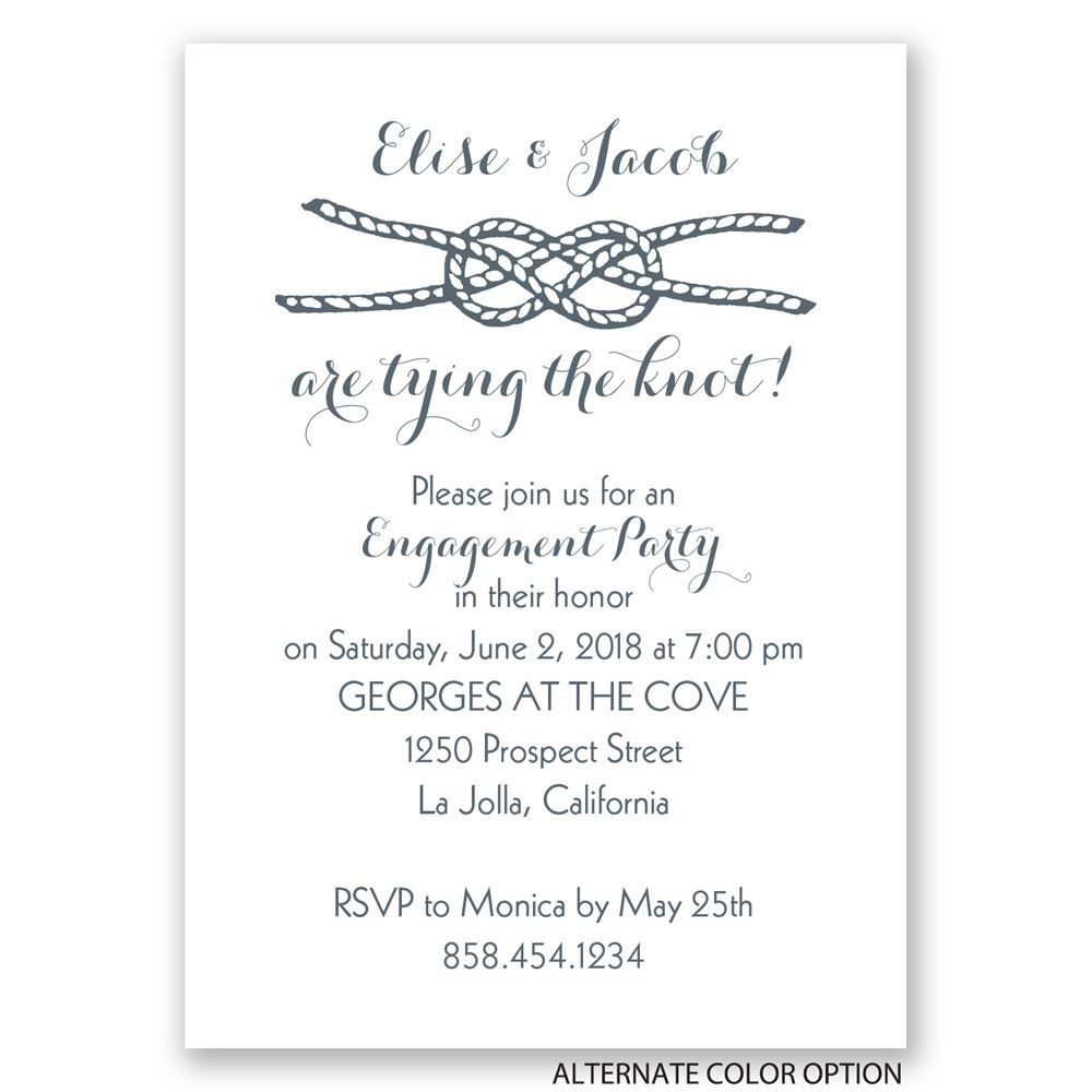 tying the knot mini engagement party invitation - Engagement Party Invite