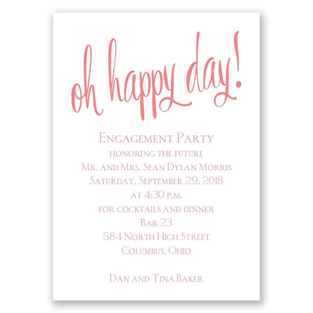Oh Happy Day Mini Engagement Party Invitation | Invitations By Dawn