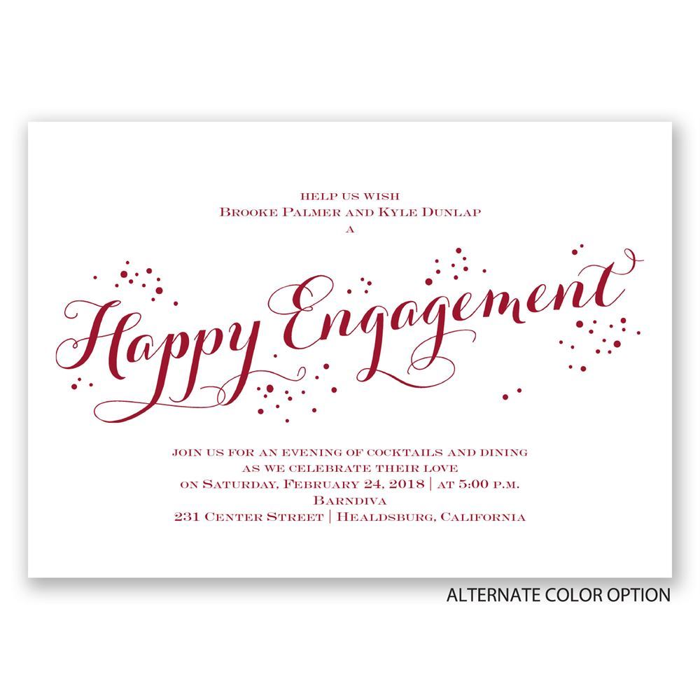 Feeling Bubbly Engagement Party Invitation – Elegant Engagement Party Invitations