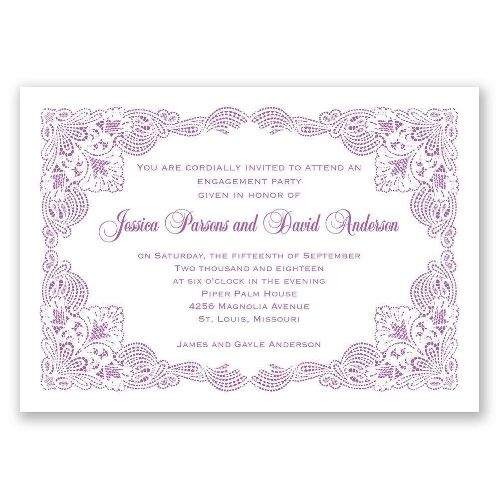 Elaborate Wedding Invitations: Elaborate Lace Engagement Party Invitation