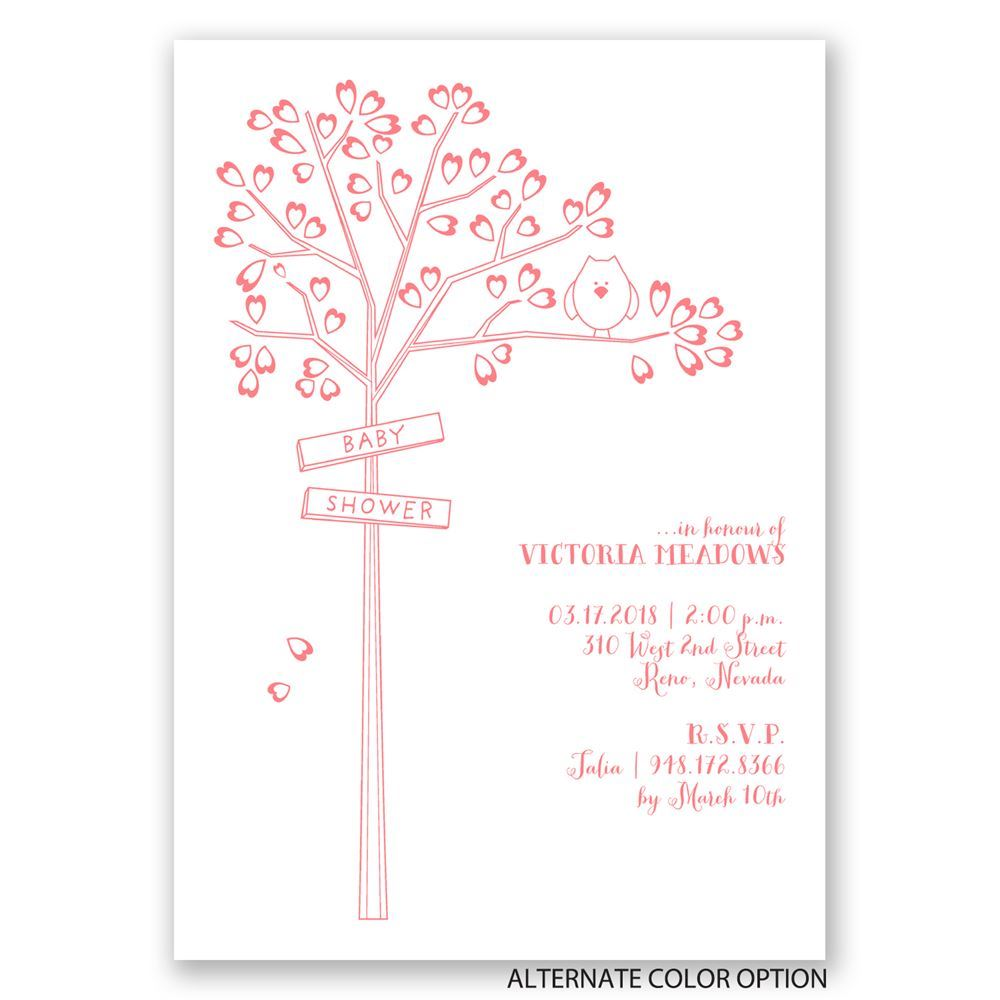 Growing Love Baby Shower Invitation | Invitations By Dawn