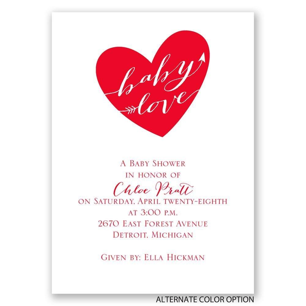 Baby Love Mini Baby Shower Invitation   Invitations By Dawn