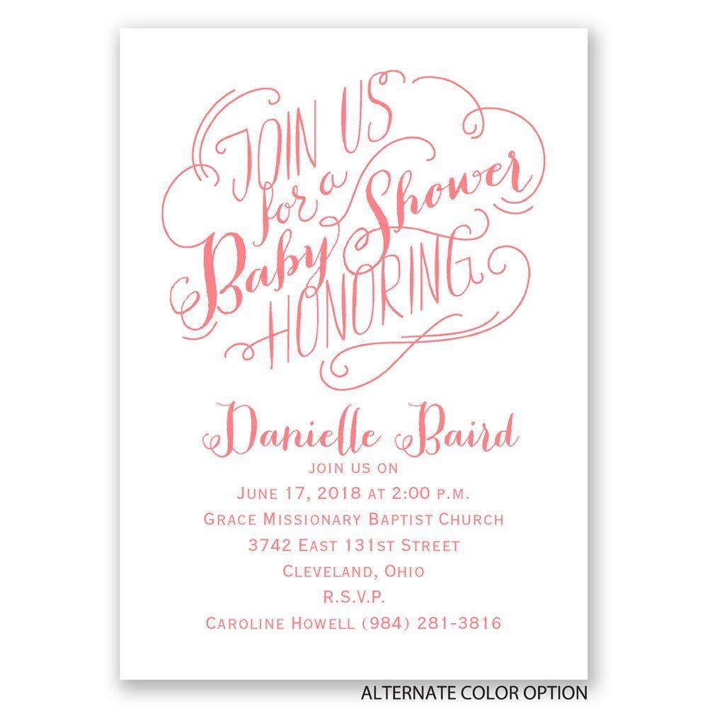 Join us mini baby shower invitation invitations by dawn join us mini baby shower invitation monicamarmolfo Image collections