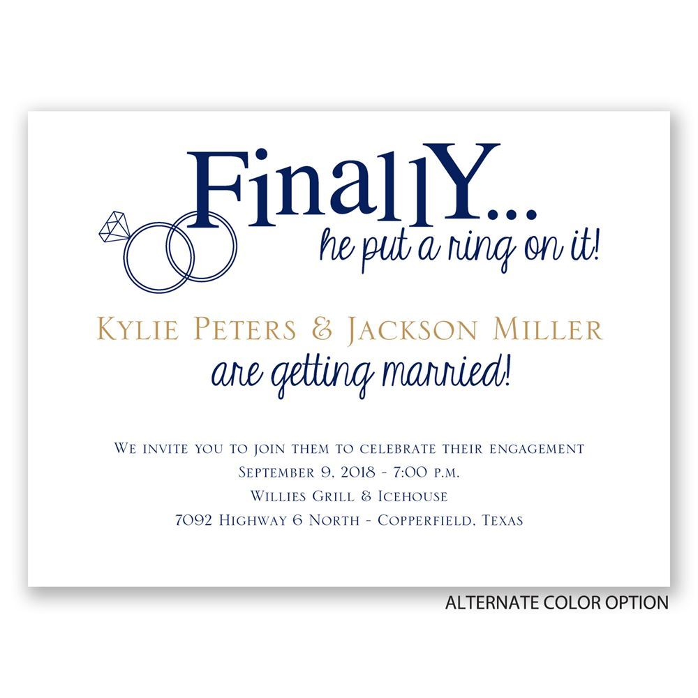 Finally Petite Engagement Party Invitation | Invitations By Dawn