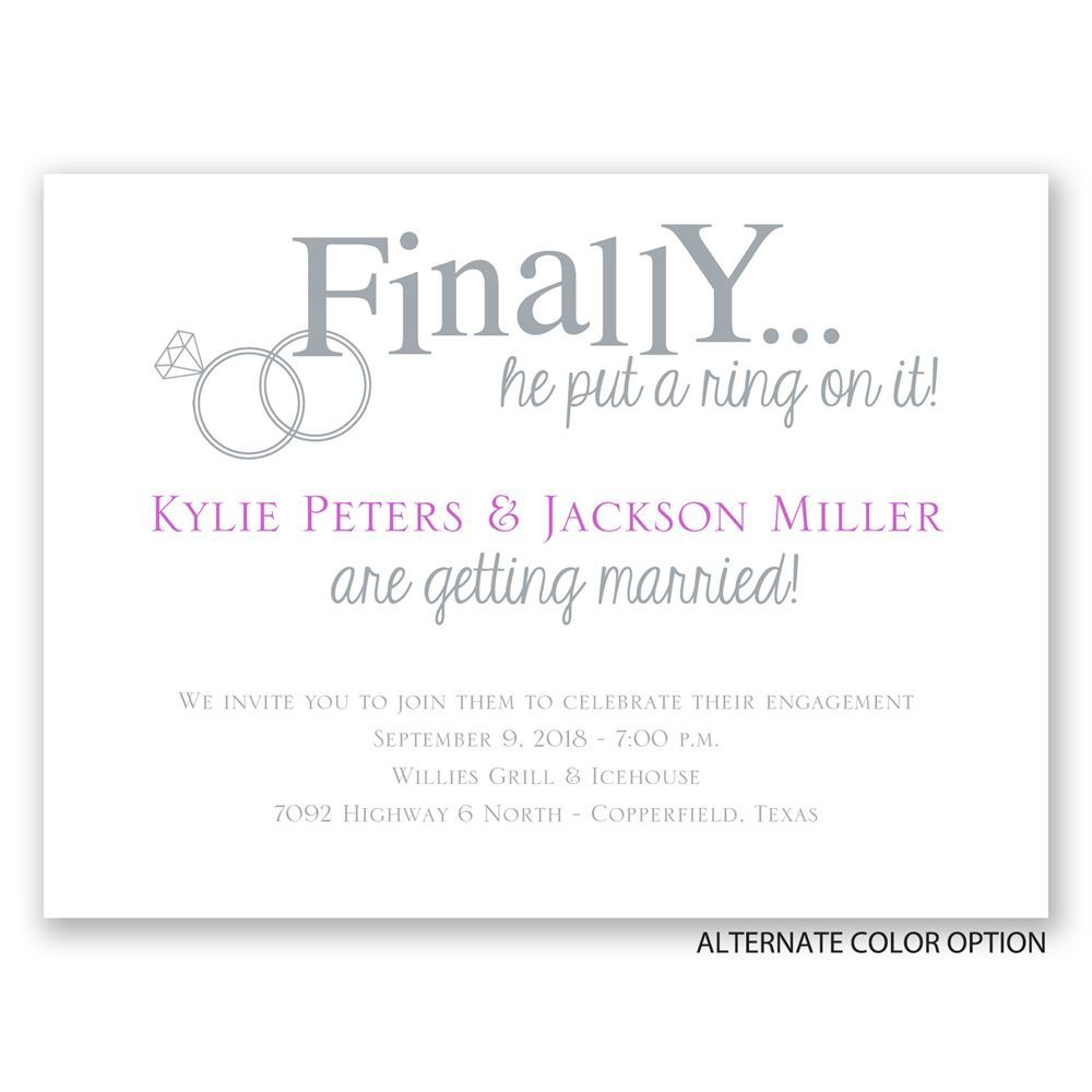 Finally Petite Engagement Party Invitation – Engagement Party Invitation Etiquette