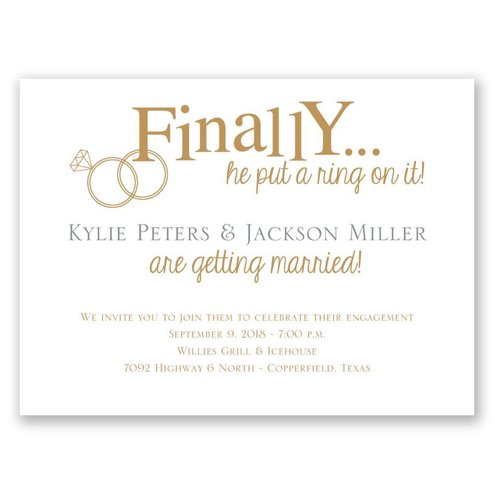 Finally Petite Engagement Party Invitation Invitations